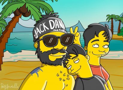 Ponte Amarillo crea caricaturas de los Simpson a partir de una foto